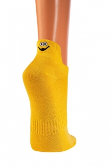 Sneakersocken gelb mit Fersenstick 42-47