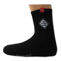6 PaarSport-Socken schwarz mit ihrem Vereinslogo