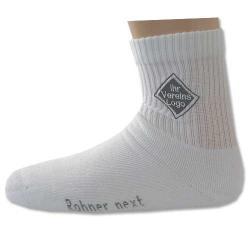 6 Paar Sport-Socken weiss mit ihrem Vereinslogo