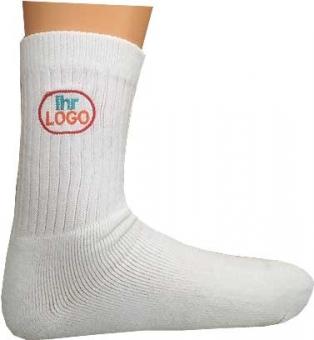 5 Paar Sport-Socken weiss mit ihrem Vereinslogo