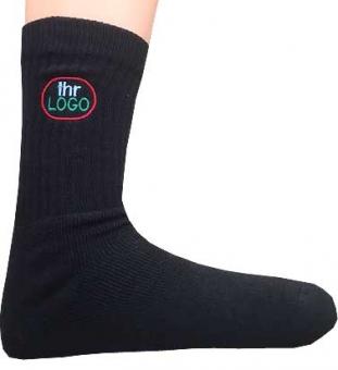 5 Paar Sport-Socken schwarz mit ihrem Vereinslogo