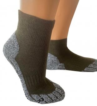 Coolmax®-Trekking-Socken Kurzform 39-42 khaki