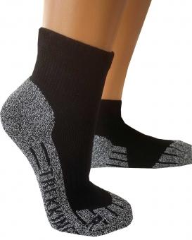 Coolmax®-Trekking-Socken Kurzform 39-42 schwarz